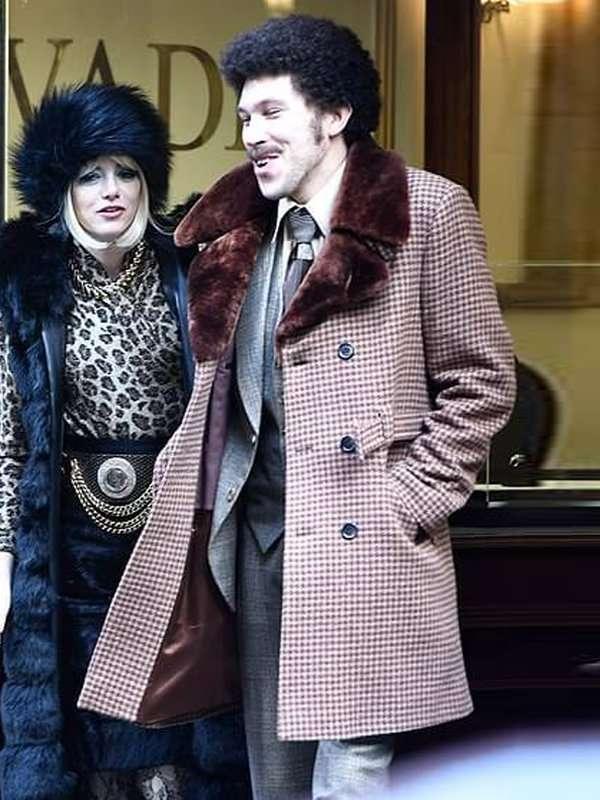 Cruella 2021 Joel Fry Plaid Shearling Coat