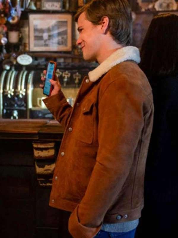 Dash & Lily Edgar Brown Shearling Jacket