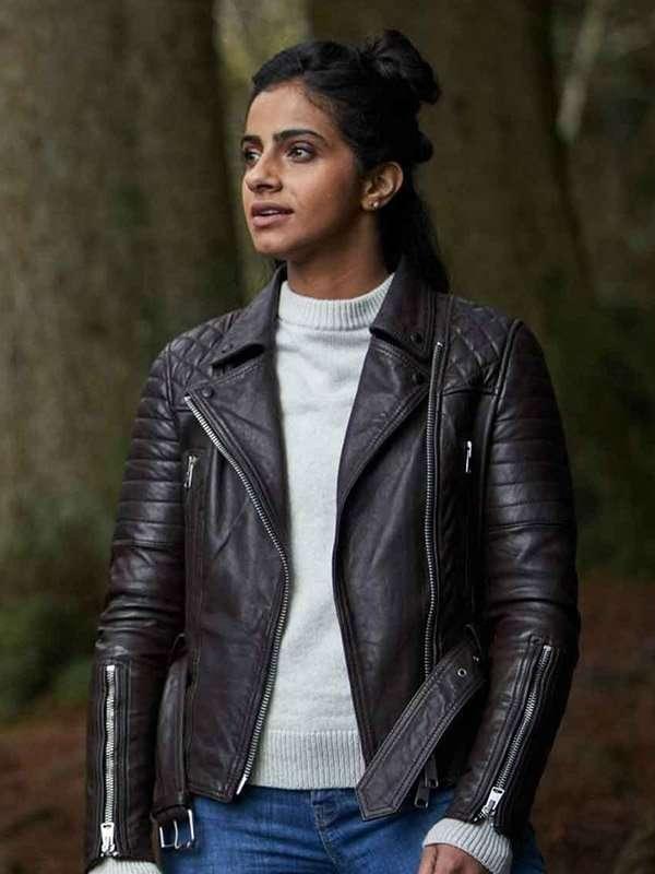 Doctor Who Mandip Gill Biker Jacket