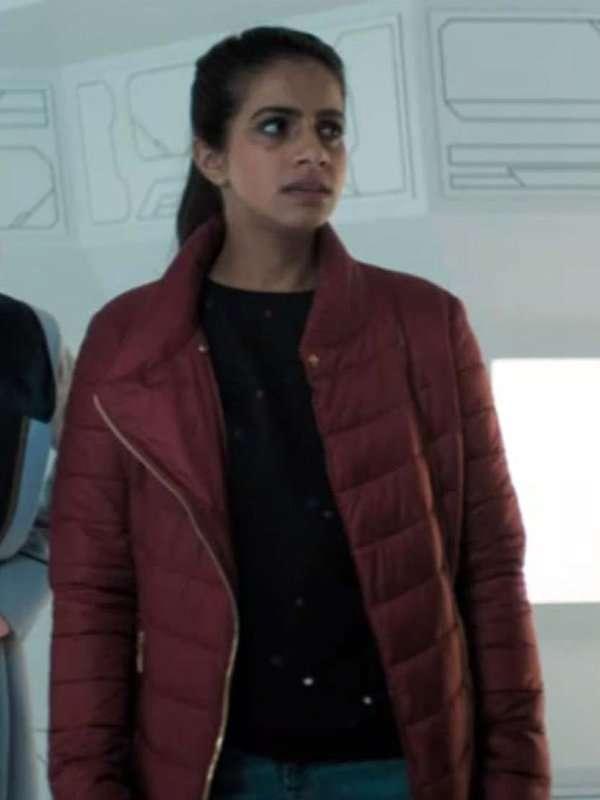Doctor Who Mandip Gill Maroon Jacket