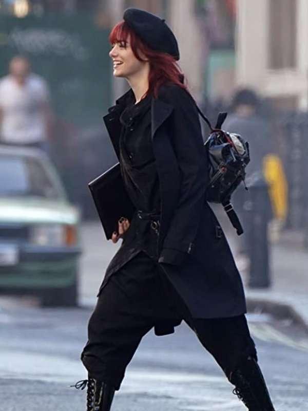 Emma Stone Cruella Black Trench Coat