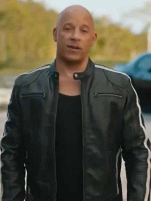 Fast and Furious 9 Dominic Toretto Black Leather Jacket