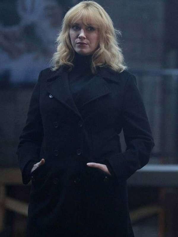 Good Girls Christina Hendricks Black Wool Coat