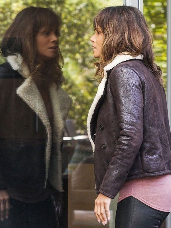 Halle Berry Shearling Brown Jacket