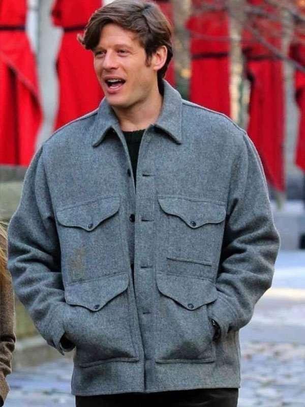 James Norton Gray Wool Jacket