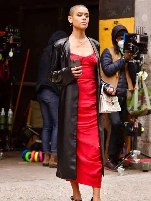 Julien Calloway Black Gossip Girl Jordan Alexander Coat