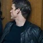Kurt Wallander Young Wallander Black Bomber Jacket