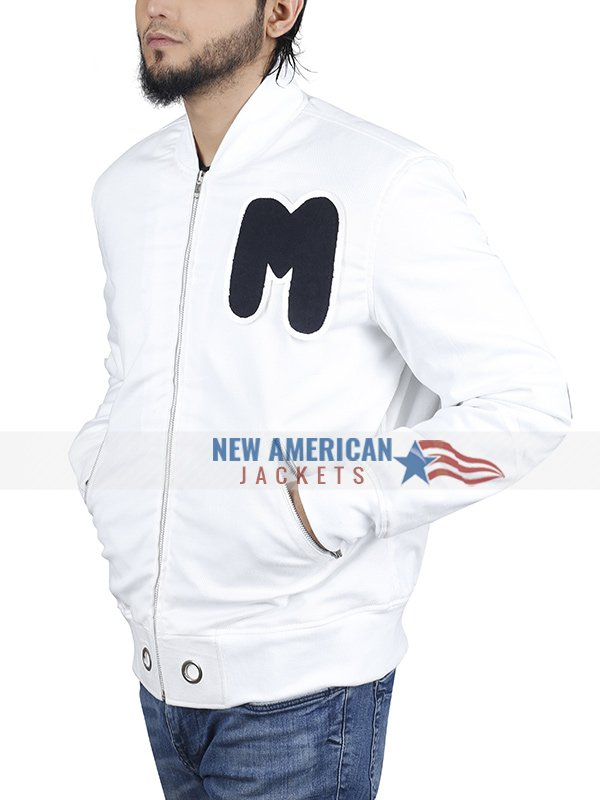 Marshmello White Bomber Jacket