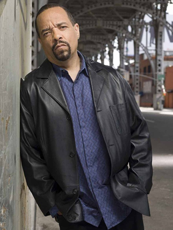 Odafin Tutuola Law and Order Leather Jacket