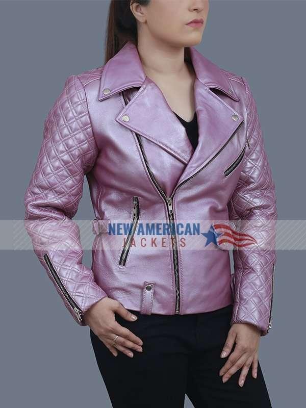 Sarah Shahi SexLife Billie Connelly Pink Jacket