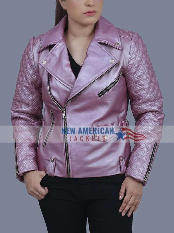 Sex Life Sarah Shahi Leather Jacket