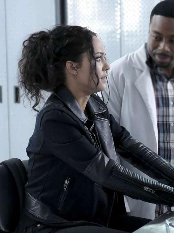 Tristin Mays MacGyver Black Leather Jacket