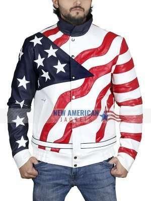 American Rapper Vanilla Ice American Flag Jacket
