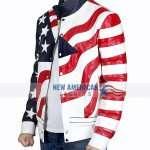 Vanilla Ice American Flag Motorcycle Jacket
