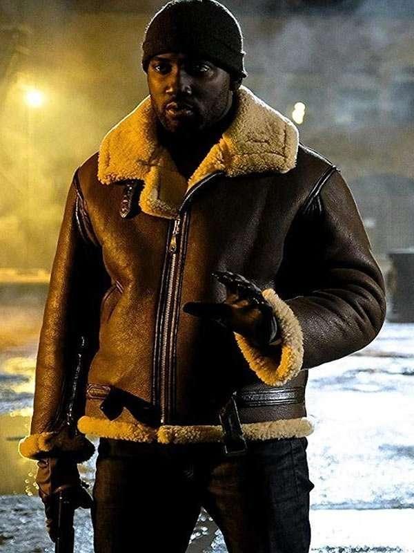 Wynonna Earp Agent Dolls Shearling Leather Jacket