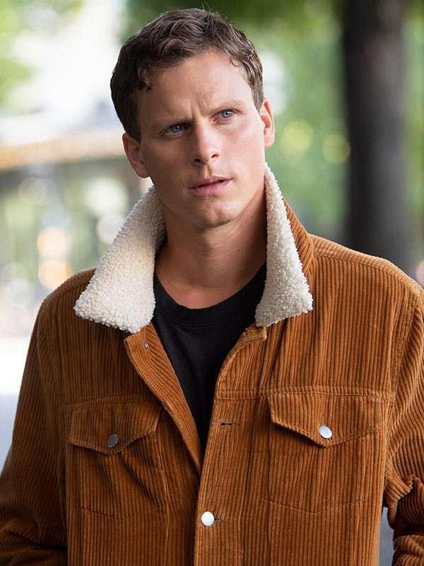Young Wallander Adam Pålsson Brown Jacket