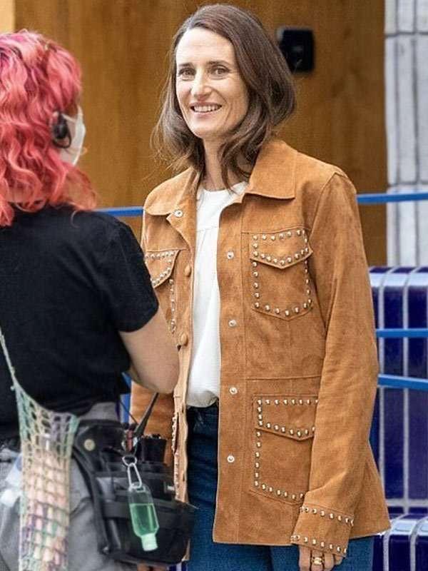 Camille Cottin Leather Jacket