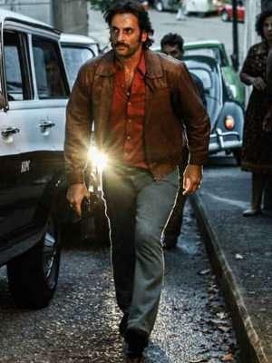 Dom Victor Dantas Brown Leather Jacket