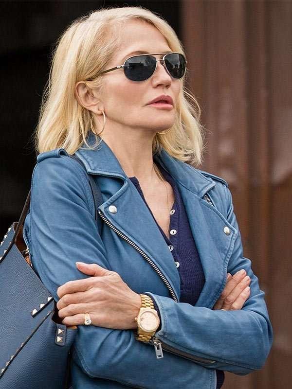Ellen Barkin Blue Jacket