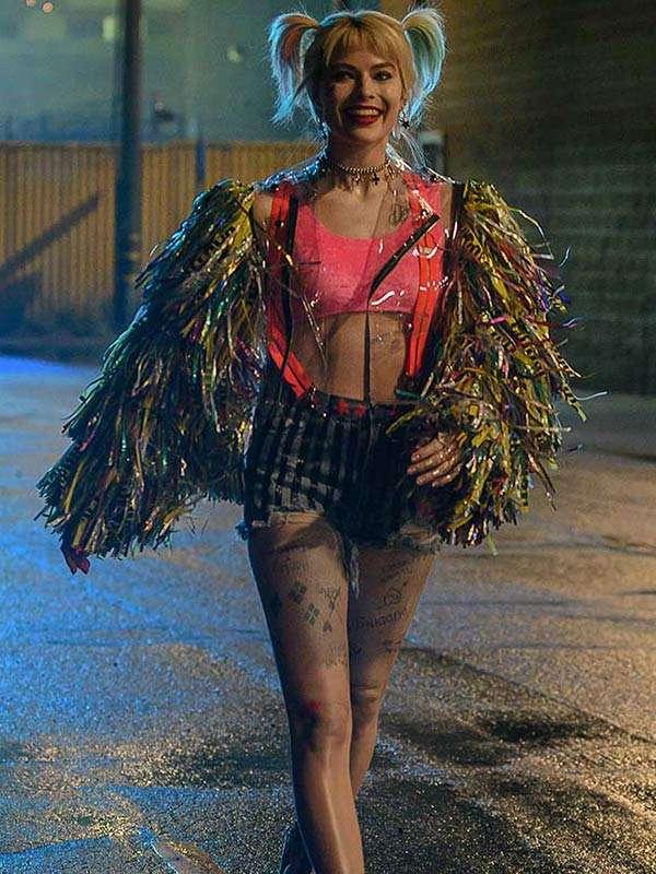 Harley Quinn Birds of Prey Fringed Jacket