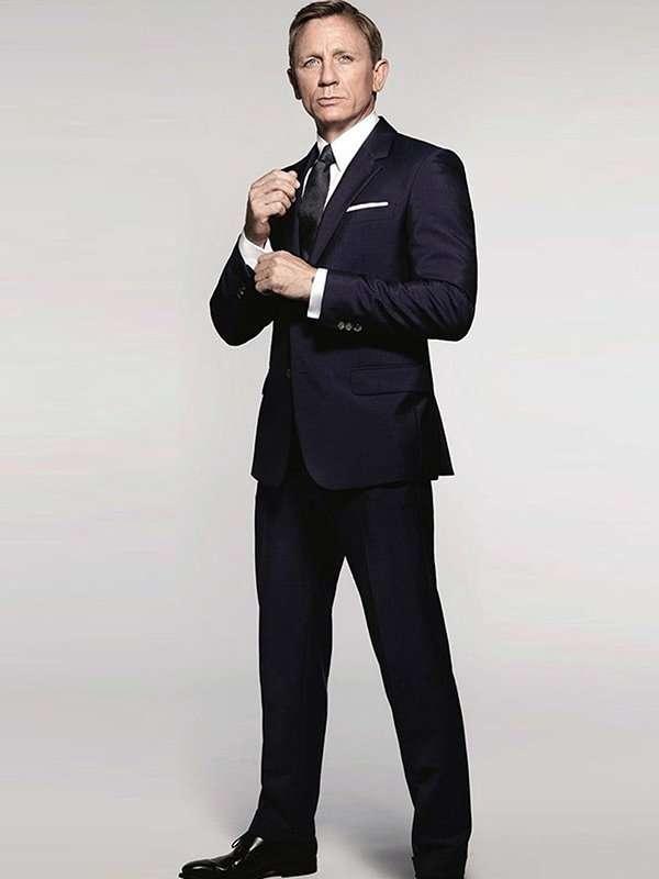 James Bond Spectre Navy Blue Suit