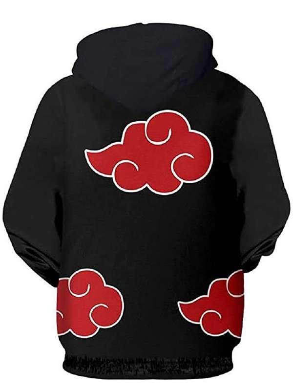 Naruto Akatsuki Black Zipper Hoodie
