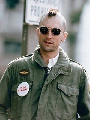 Taxi Driver Travis Bickle Green Cotton Jacket