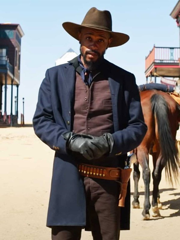 The Harder They Fall LaKeith Stanfield Blue Coat