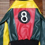 Women's 8 Ball Pool Tri-color Bomber Jacket