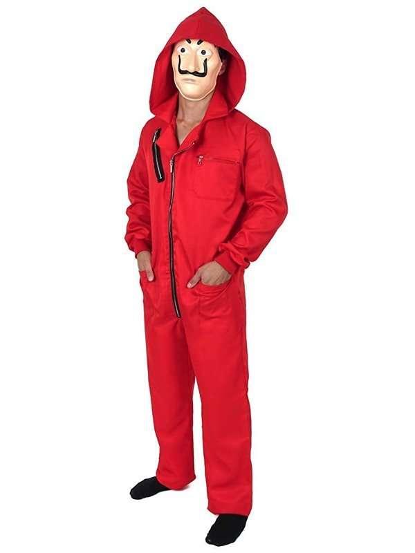 money heist red jumpsuit
