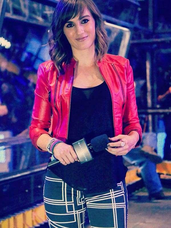 Alison Haislip BattleBots S01 Red Cropped Jacket