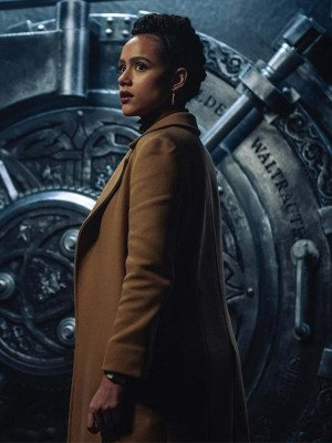 Army of Thieves Gwendoline Brown Trench Coat