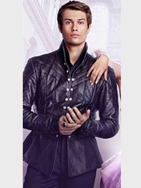 Cinderella Prince Robert Black Leather Jacket