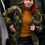 Don't Look Up Jennifer Lawrence Camouflage Jacket