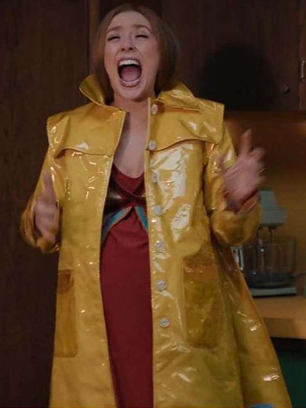 Elizabeth Olsen Yellow Coat