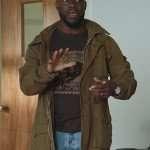 Fatherhood Kevin Hart Brown Cotton Jacket