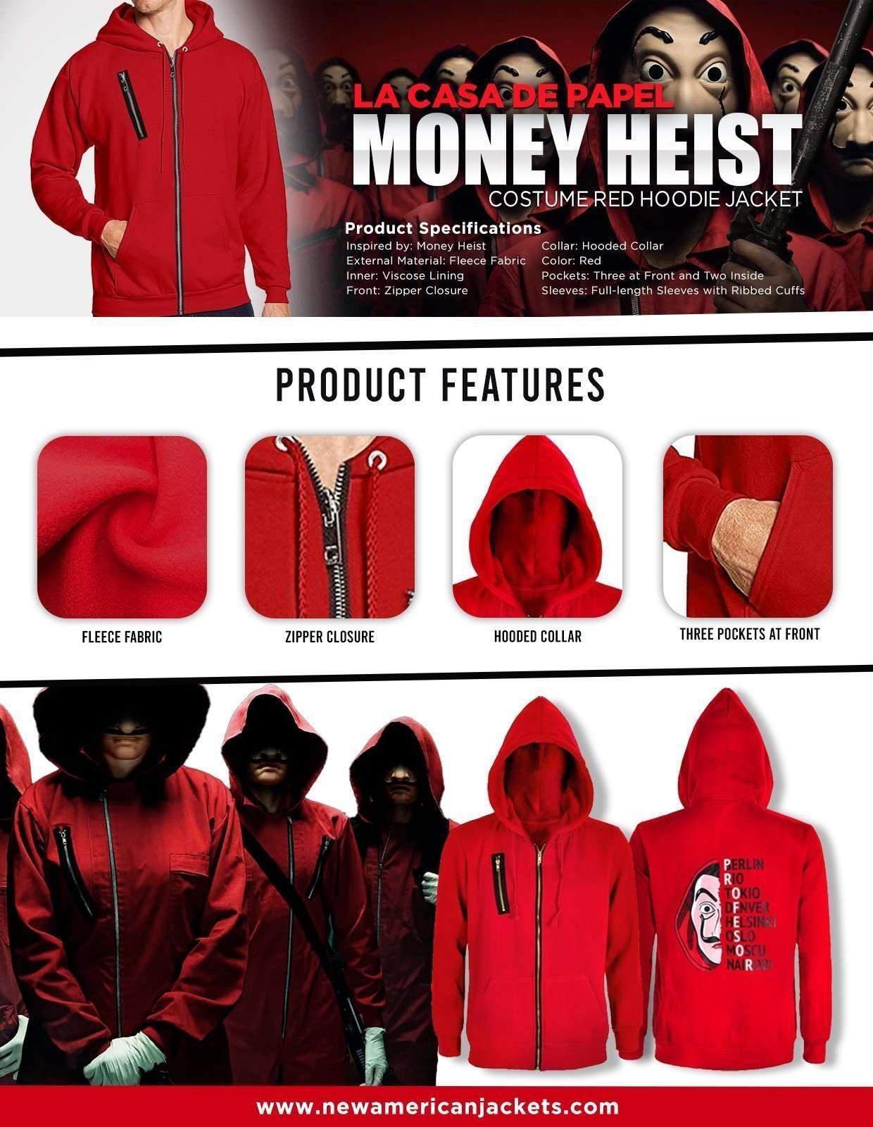Money Heist Halloween Costume Hoodie