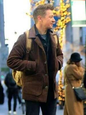 Hawkeye Clint Barton Suede Leather Jacket