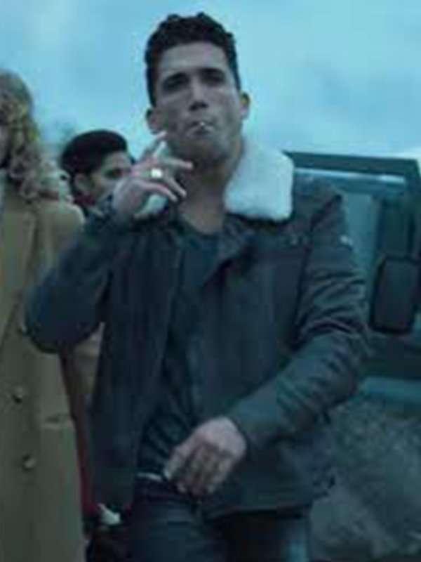 Jaime Lorente Money Heist Denver Leather Jacket