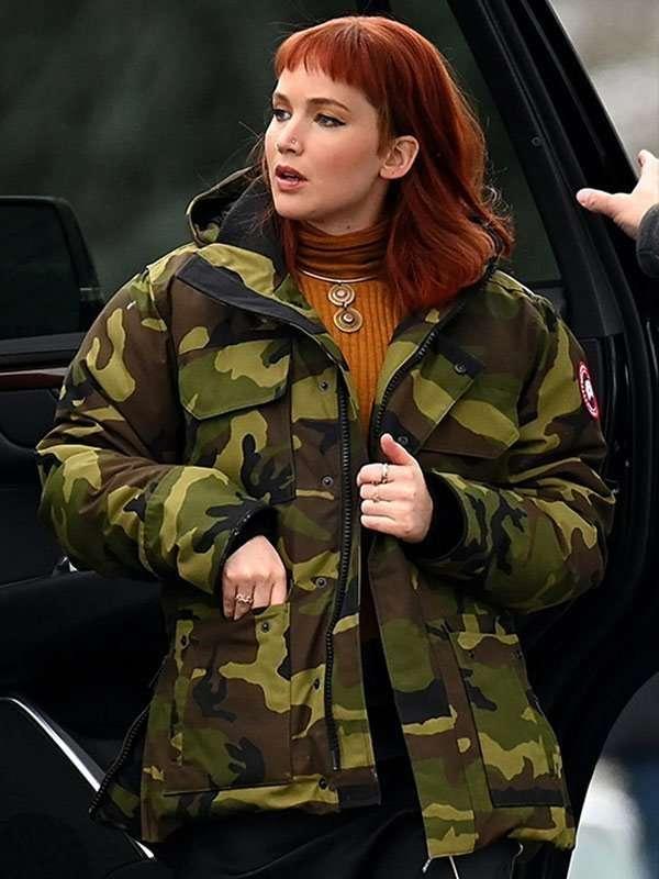 Jennifer Lawrence Camouflage Jacket