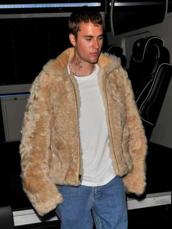 Justin Bieber Fur Jacket