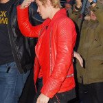 Justin Bieber Quilted Red Leather Jacket
