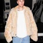 Justin Bieber Shearling Fur Jacket