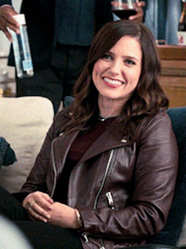 Love, Victor Veronica Brown Leather Jacket