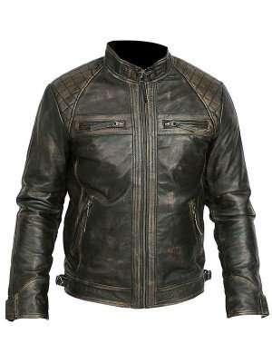Vintage Motorcycle Retro Leather Jacket