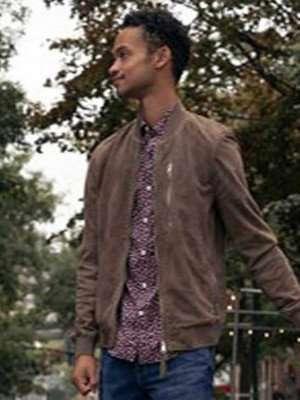 Modern Love Marquis Rodriguez Ben Suede Leather Jacket