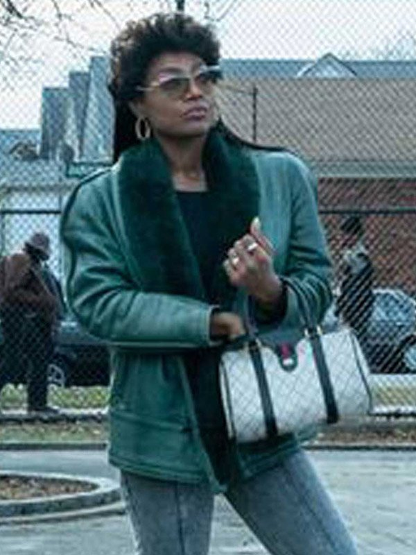 Power Book III Patina Miller Leather Jacket