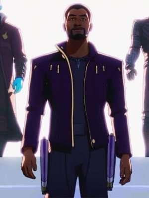animated series what if chadwick boseman Jacket