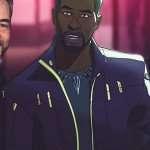 what if chadwick boseman purple Jacket