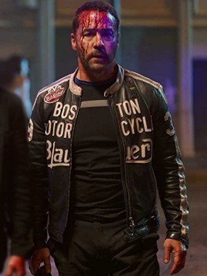 American Night Vincent Racer Black Leather Jacket